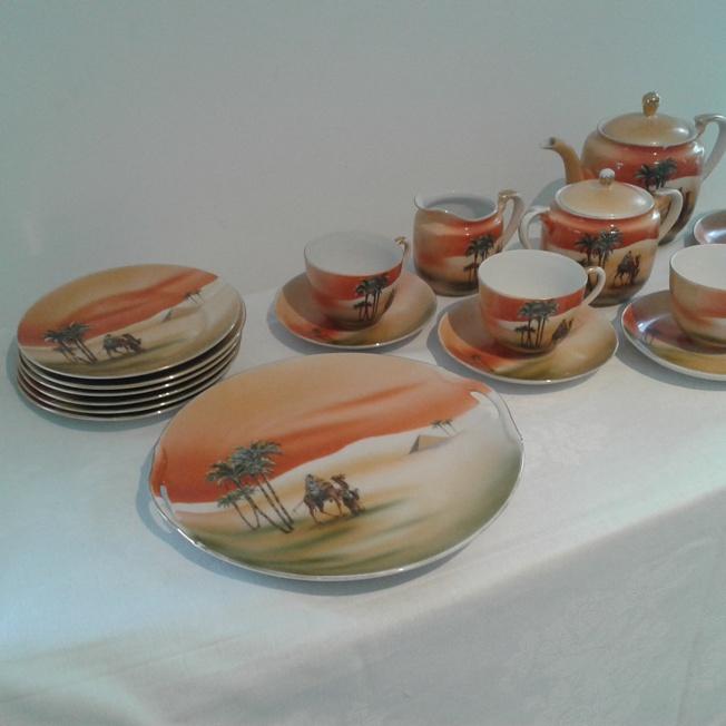 Noritake Camel Tea Set